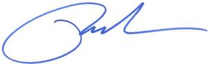 Paul S. Peters III, Signature