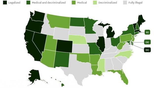 Marijuana Laws Prior to 2020 Election